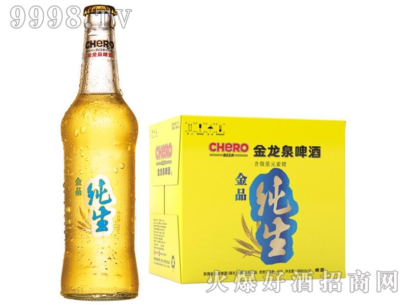 金龙泉啤酒金品纯生388ml8°P