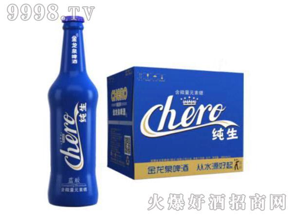 金龙泉啤酒蓝颜纯生388ml8°P